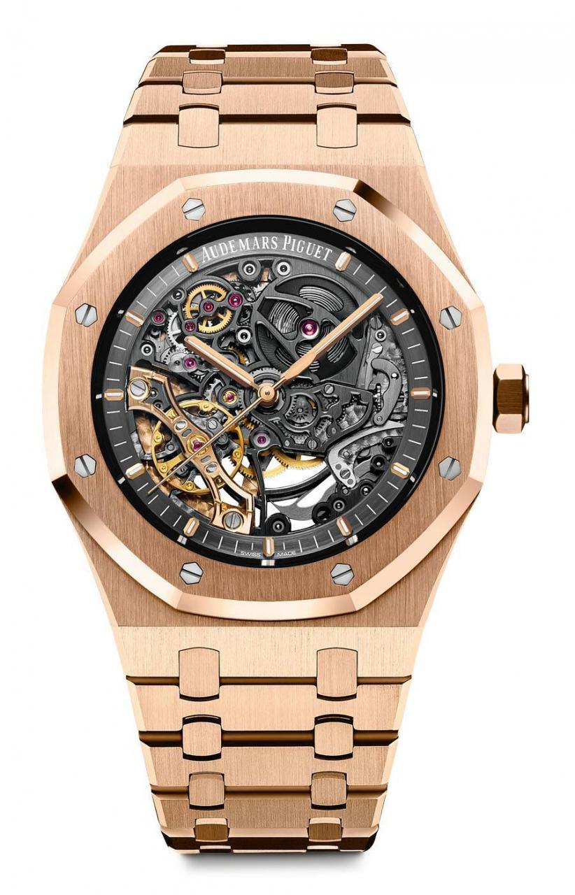 Audemars Piguet: Royal Oak Double Balance Wheel Openworked in Rotgold